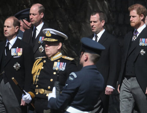 The Royal Family Pay Their Respects to Prince Philip at His Funeral